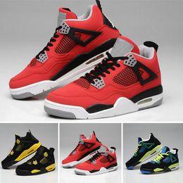 new product e66a4 674b8 2018 Nike Air Jordan 4 1 6 11 12 13 Retro 4 Männer 4 Basketballschuhe  Militär Motosports blau Alternative 89 Pure Money White Zement Royalty  gezüchtet Fire ...