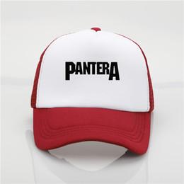 82149fa3c27 black hats band Coupons - fashion hat Pantera band printing net cap  baseball cap Men and