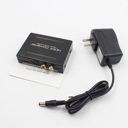 2019 hdmi optischer audio-konverter 1080P HDMI auf HDMI Optical + SPDIF + Cinch L / R Extractor Converter Audio Splitter digitale 2-Kanal-PCM Stereo-Audio--Ray spielen Neue günstig hdmi optischer audio-konverter