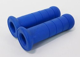 Wholesale Grips Scooters - Scooter Motorcycle Hand Grips Modified Accessories Handle Rubber Bar For SUV Blue