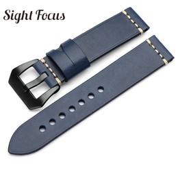 24104a65fe6 pulseira de couro feita à mão Desconto Handmade italiano bezerro relógio  bandas para marinha Watch cintos