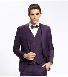 Wholesale Man Light Purple Wedding Vest - New Arrival Groomsmen Notch Lapel Groom Tuxedos Purple Men Suits Wedding Prom Dinner Best Man Blazer(Jacket+Pants+Tie+Vest) K828