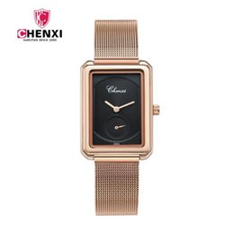 Wholesale America Asia - Rose Gold Square Women's Watch Fashion Quartz Waterproof Watch Cross Border Southeast Asia, Middle East, South America, North America, Suppl