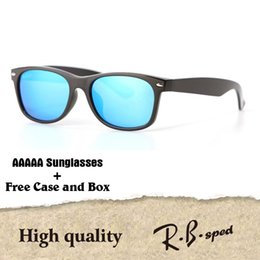 Wholesale Cats Red Eyes - New arrival Brand Designer sunglasses for men women Mirror glass lenses fashion plank frame Metal hinge with free cases and box