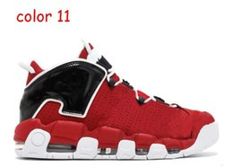Wholesale Bulls Baseball - 2018 Air More Uptempo SUPTEMPO Basketball Shoes OLYMPIC RELEASE Bulls Gold Varsity Maroon Black Mens Scottie Pippen Athletic Outdoor Shoes