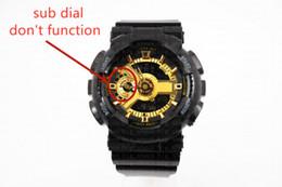 Bracelet montre numérique menés en Ligne-Montre-bracelet pour hommes classique classique 110 de marque, Sport double affichage GMT Digital LED reloj hombre Army Military montre
