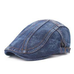 2019 cappelli di denim donna Berretti piatti con fibbia Beret da uomo, stile classico retrò, primavera estate sconti cappelli di denim donna
