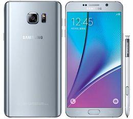 Nota online-Original desbloqueado Samsung galaxy Note 5 N920A / T / P / V 4G LTE Teléfono móvil 16MP 5.7 '' Octa-core 4GB RAM 32GB ROM NFC Cámara Teléfono restaurado