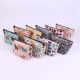 Wholesale Hop Storage - Pink Blue Women Travel Toiletry Portable Makeup Case Storage Pouch Cosmetic Bag Purse Organizer Small Coin Pocket