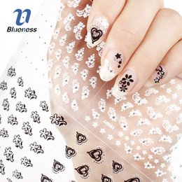 2019 стикеры для дизайна ногтей бабочки Nail Sticker 24 Nail Art Decorations Manicure Designs White Black 3D Butterfly Flowers DIY For Nails Tools Decal Sticker скидка стикеры для дизайна ногтей бабочки