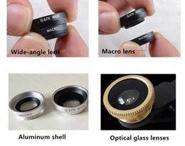 Effets pour appareil photo de téléphone portable en Ligne-Mobile Phone Lens Appareil photo externe pour téléphone portable triple universel fisheye 0.67 grand angle 180 macro lentille effets spéciaux