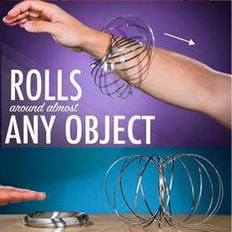 Wholesale Ring Liquid - 2018 hot selling-Stainless steel magic hand rings magic liquid bracelet magic prop creative pressure relief toys.