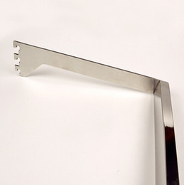 Wholesale Clothes Support - 60cm Stainless steel Garment store clothing rail tube coat display rack shelf support bar Bracket holder square bar
