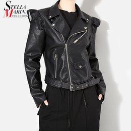 Novo 2018 Estilo Coreano Mulheres Jaqueta De Couro Falso Preto Casaco de Manga Longa Com Zíper Estilo Punk Feminino Casaco Curto Casuais Estilo 4014 supplier black leather jacket korean style de Fornecedores de jaqueta de couro preta estilo coreano