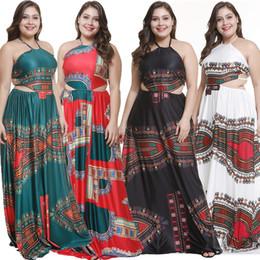 festa gorda tamanho vestido Desconto Sexy backless Ankara para mulheres gordas Africano impressão estresse moda vestidos de festa Africanprints estilo Nigeriano plus size dress