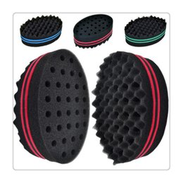 Wholesale Wholesale Wave Brushes - Hair Brush Sytling Tools Double Wave Magic Hair Twist Sponge Dreads Twisting Locks Dreadlocks Curl Brush Sponge Hair Care Braiders
