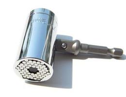 2019 utensile a chiavetta 2 Pz / set Magic Spanner Grip Multi Function Socket a cricchetto universale 7-19mm Power Drill Adapter Car Hand Tools Kit di riparazione sconti utensile a chiavetta