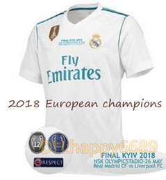 Wholesale football specials - 2018 Real madrid Home Soccer Jersey 17 18 Modric 11Bale Marcelo ASENSIO ISCO Champions League Special FINAL Football jerseys shirt