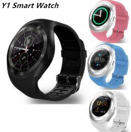 """Monitoraggio delle schede sim online-Vendita calda Y1 Smart Watch 1.54 """"Touch Screen Fitness Activity Tracker Sonno Monitor Pedometro Calorie Supporto scheda SIM VS gt08 DZ09"""