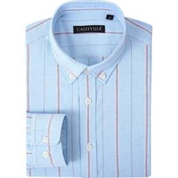 e98754bb50 Oxford Masculina Listrada Larga Camisa de Manga Longa Manguito Regular 100% Algodão  Slim Fit Botão Para Baixo Camisas de Vestido Sem Bolso desconto botão ...