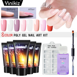 Chiodi di costruzione online-Yinikiz 30ml Poly Gel Finger Extension Camouflage Builder Polygel UV LED Quick Building Hard Gel acrilico Nail Art Set di colla