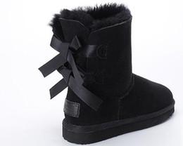 2018 TOP Bow dekoration Australian frauen winter runde schneeschuhe mode stiefel winter warm dicken boden tragen us5-us11 von Fabrikanten