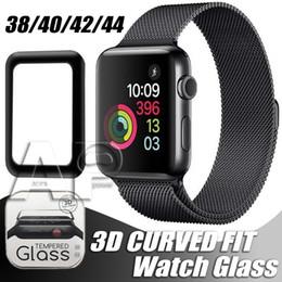 La serie di orologi libera online-Per Apple Watch 3D Proteggi schermo in vetro temperato con copertura completa 40mm 42mm 38mm 44mm Anti-graffio senza bolle d'aria per serie iWatch 1 2 3 4