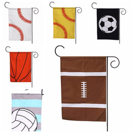 Wholesale flag items - 35*45cm Softaball Canvas Garden Flag Sports Baseball Flag Outdoor Flag Hanging Decoration Banner Flags Sports Toys Accessory AAA276