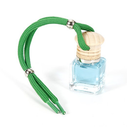 Wholesale Essential Oil Bottles Car - cute Air Fresheners crystal Fragrance Essential Oil Diffuser Car Hanging Perfume Creative Oil Bottle For Cars car styling