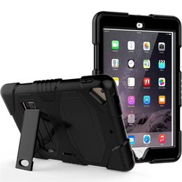 2019 estuche antichoque ipad air Pepkoo Defender Military Stand Water dirt shock Cubierta de la caja de prueba Plastic + Silicone para ipad 2 3 4 iPad Air 2 air iPad