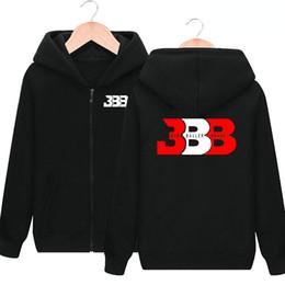 Wholesale Brushed Fleece - BBB design hoodies Basketball big baller sweat shirts Lonzo Ball clothing Cardigan zipper coat Outdoor sport jacket Brushed sweatshirts