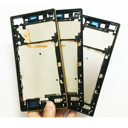 Wholesale housing xperia - Orignal Front Middle Frame Bezel Plate Housing with USB Door Cap Cover For Sony Xperia z5 premium 5.5 inch Replacements