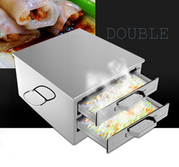 Wholesale Rolling Drawer - Household Stainless Steel Steamed Machine Steam Rack Steamer hot Rice Milk Furnace Cooking Tools Drawer Rice box Rolls