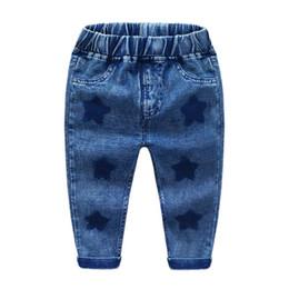 Jeans de moda para niños online-Pantalones de moda para niños 2018 New Children's Wear Boys Jeans Niños Casual Pantalones largos Baby Boys Clothing 2-6Y K