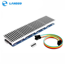 Wholesale Matrix Module - Free shipping LANDZO MAX7219 Dot Matrix Module For Arduino Microcontroller 4 In 1 Display with 5P Line