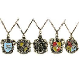 Wholesale Magic Bird - whole salerongji jewelry Hogwarts Magic school long Necklace Bird snake lion animal motifs Pendant men and woman jewelry Accessories