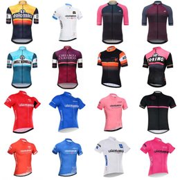 Wholesale Comfortable Bicycles - 2018 Tour de Italy Men Summer Cycling Short Sleeve Jersey Shirt Bicycle Clothes MTB Bike Wear Comfortable Breathable C2934
