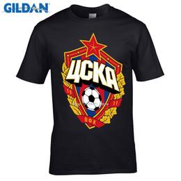 hoch zentral Rabatt Designer T-Shirt Das zentrale cska Moskau Russland LOGO T-Shirt Top Lycra Baumwolle Männer T-Shirt Neues Design Hohe Qualität