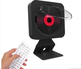 Bluetooth portatile dvd online-Porta AV Lettore DVD Portatile da parete Bluetooth HiFi Lettore musicale CD con telecomando Radio FM Boombox Supporto da tavolo 1080p