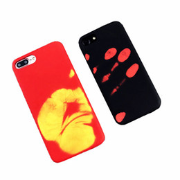 Wholesale Thermal Covers - NEW Matte Soft TPU Case Hot Heat Sensitive Color Changing Back Cover for iphone X 6 7 plus Physical Thermal Sensor Discoloration