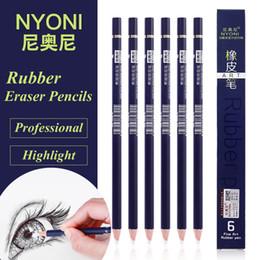 lápiz lápiz de goma Rebajas NYONI Highlight Pen Style Elastone Eraser Pencil Goma Revisión de detalles Detalles Highlight Modeling para Manga Diseño Dibujo Materiales de arte