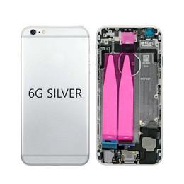 Высокое качество для iphone 6 задняя средняя рама шасси полный корпус в сборе крышка батарейного отсека задняя дверь с гибким кабелем+ бесплатный DHL от Поставщики чехол для иврита телефона