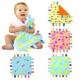Wholesale Comfort Blankets - 7Style 30cm Baby Comforting Taggies Blanket Super Soft Square Plush Baby Appease Towel Toys