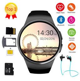 2019 teléfonos firefox KW18 Bluetooth reloj inteligente pantalla completa Soporte SIM Tarjeta TF Smartwatch Frecuencia cardíaca del teléfono para apple gear s2 huawei xiaomi teléfonos firefox baratos