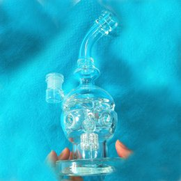 Wholesale Pictures Free - Hand Blown Crystal Skull Bong Real Picture Bubblers Beaker Glass Bong Dab Rigs Fab Egg Pipe Two Function Glass Pipe Sturdy Thicken Bottom