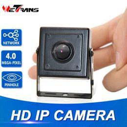 2019 lente de orificio 3.7mm cctv mini cámara 4.0MP Mini cámara IP H.264 3.7mm Megapixel lente estenopeica 1080P Security POE IP CCTV Home vigilancia 4MP H.265 Mini cámara HD lente de orificio 3.7mm cctv mini cámara baratos