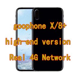 Wholesale Iphones Cell - Unlocked Goophone iX X 8plus MTK6737 Octa Core Android Phone 2G Ram 16 32G Rom Real 4G Lte Face ID Recognition 8+ Smartphone