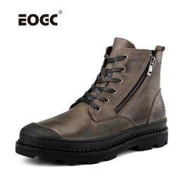 e5f88c2ca Botas de Homens de Estilo Vintage de Couro Natural Outono E Sapatos de  Inverno Sapatos de Salsa Sapatos de Trabalho À Prova de Água Dos Homens de  Qualidade ...