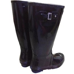 Wholesale Men Knee High Boot - Men Women RAINBOOTS Fashion Knee-high Rain Boots Waterproof Welly Boots Rubber Rainboots Water Shoes Rainshoes Tall and Short 11 Colors