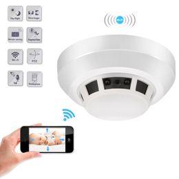 Wholesale Wifi Motion Detector Alarm - HD 1080P WIFI IP night vision camera F17 home Alarm mini smoke detector security DVR Motion Dectection